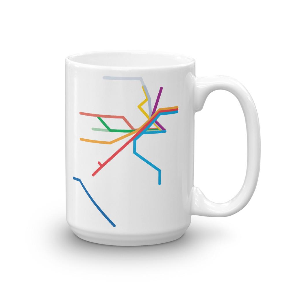 NJ Transit Rail Map 15oz Mug
